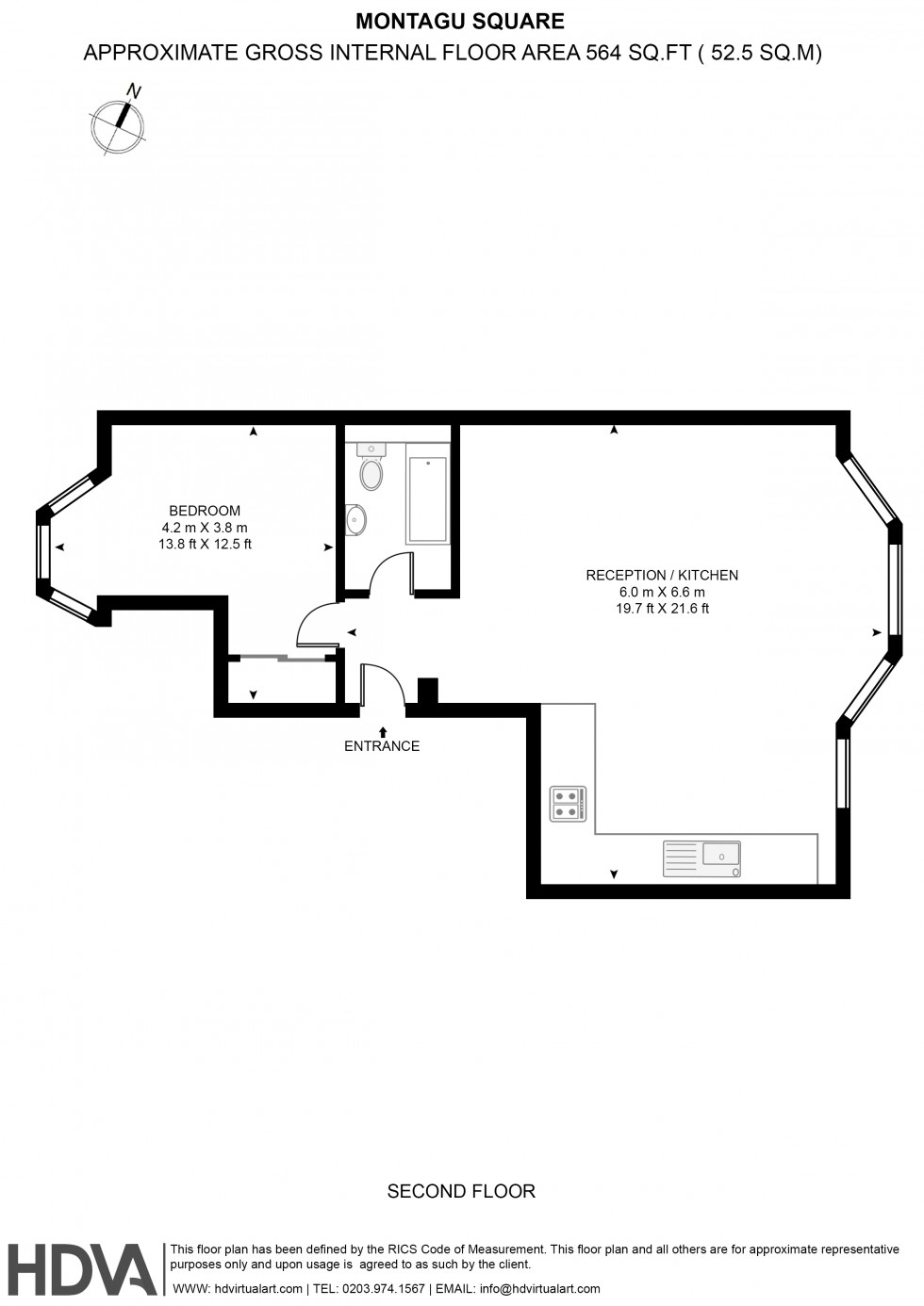 Floorplan for Montagu Square, 42 Montagu Square, London