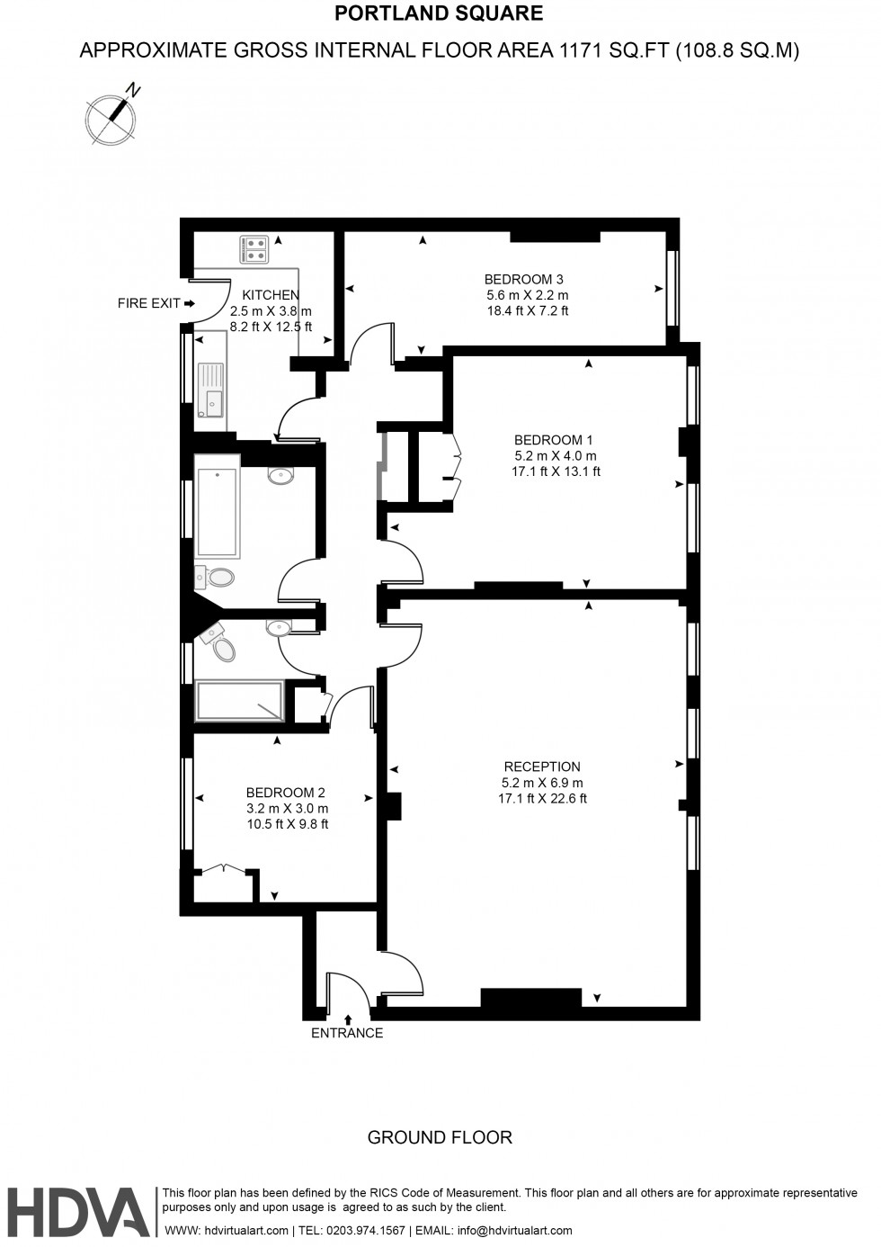 Floorplan for 15, Portman Square, London